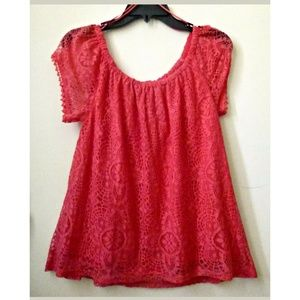 Red Camel Top Size XS Short Cap Sleeve Casual